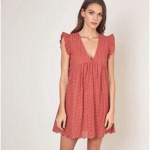 NWT MUSTARD SEED Terracotta Eyelet Romper Dress